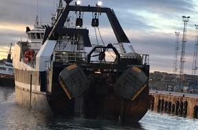 Les panneaux de chalut renommés Exocet de Morgère à la Skipper Expo Int. Aberdeen